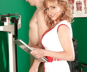 Mature nurse in sexy uniform and heels Shana DuPlae..