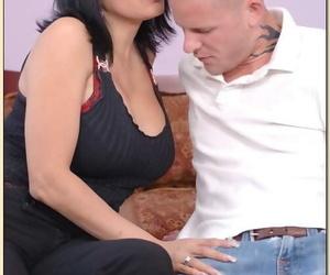 Busty latina mature Tiana Rose pleasuring fat cock and..