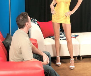 Hot older blonde Brooke Tyler seduces a younger man in a..