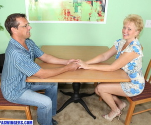 Horny older lady Tracy Lick sucks and jerks off a..
