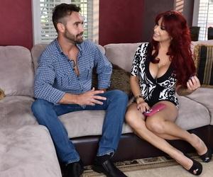 Leggy older redhead Alyssa Lynn seduces her sons friend on..