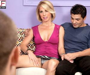 Blonde wife Jenny Mason fulfill her MMF threesome fantasy..