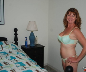 Horny mature amateur gets on her knees interracial blowy &..