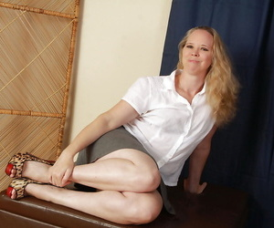 Close up foot fetish scene features mature fatty Catherine
