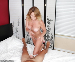 Older blonde mom I would love to fuck jacking thick penis..