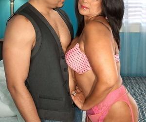Mature Latina slut Lani Maru gets her snatch hammered hard..