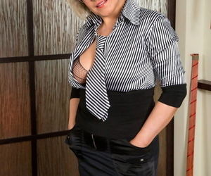 Thick MILF Angel Baby doffs hot see through lingerie..