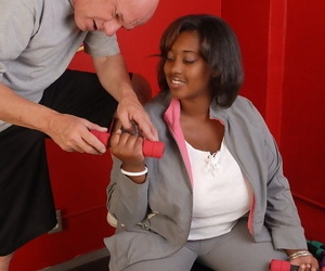 Fatty ebony Elite was fucked by white dick and filled with..