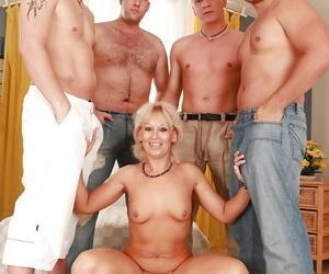 Filthy mature blonde Samantha White gets screwed hardcore..