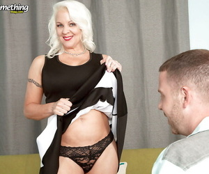 Chubby mature mom Veronica Vaughn taking younger cock..