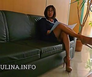 German Office Mistress Herrin Carmen High Heels Nylons Job..