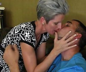 Skinny Mom makes love to her Son's hard cock - 3 min