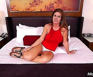 Fresh New Milf Tits Brunette MOM Does Anal and Strokes Out..