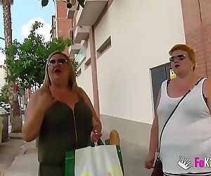 The Spanish Mommies also want to do porn. BBW Blonde..