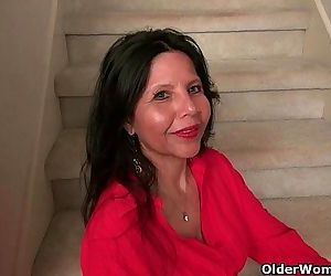 American milf April White teases her nyloned pussyHD