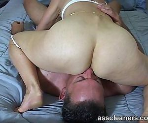 In a sixty-nine position for ass munching and cock sucking..