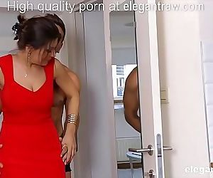 Cheating brunette MILF is fucked in the morning by her..