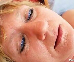 Dirty old grandma pussy spreading and masturbation - 5 min
