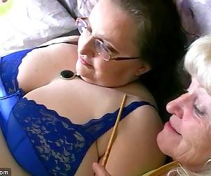 Chubby granny and old granny masturbating - 8 min HD