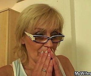I just fucked my wife's old mom - 6 min