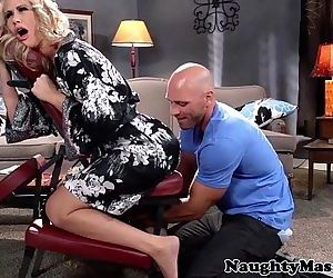 Massaged milf Simone Sonay swallows cumHD