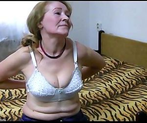 OldNanny Old granny is playing with young man and sextoy -..