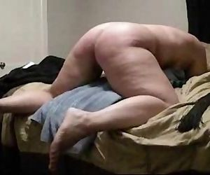 Hard spanking my stupid submissive bitch. Home made - 1..