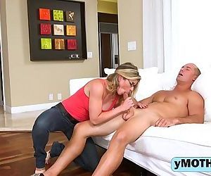 Horny mom and her daughter in a naughty threesome-1