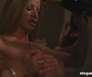 Cougars getting fucked violently anal in steamy foursome 5..