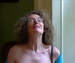 Linda shows off her tits and drools cum 2 min