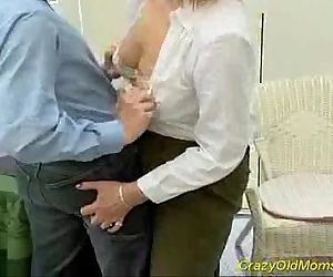 Crazy old mom gets hard cock - 5 min