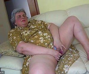OldNanny Pretty girl and fat granny masturbating together..