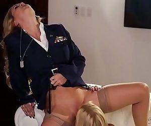 Blonde lesbian soldiersGirlswayCherie DeVille, Alexis FawxHD