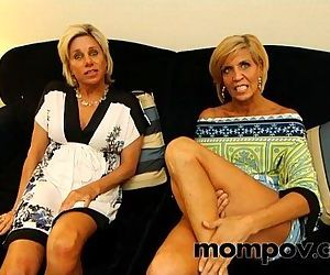 Two hot milfs gets fucked in hotel by young cock - 5 min