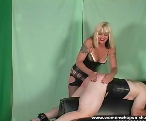 Mature Blonde Spanking In Sexy Lingerie And Boots