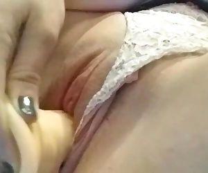 Tight pussy dildo fuck