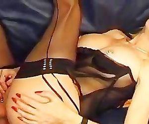 French cougar Eva Delage smokes before sex