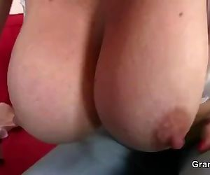 Busty bitch enjoys riding his big meat
