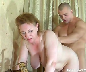 Russian mom and step son