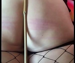 Caned the wife for being a bad girl 3 min HD
