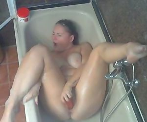 Masturbation my busty stepmother on spy cam