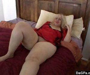 BBW mom masturbates - 5 min