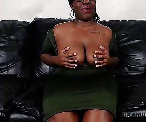 Big Black Booty BBW Cumming For An Interview 11 min HD+