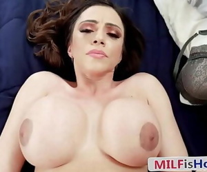 Latina Stepmom Comforting Her Stepson With Hard..
