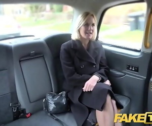 Fake Taxi Mature Milf gets her big pussy lips stretched..