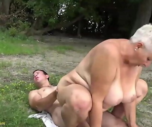 Busty 69 years old bbw grannie outdoor banged 12 min 1080p