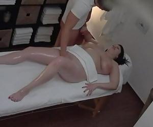 Hot massage turns to fingering spycam 10 min
