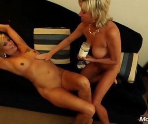 Hot wife and slutty friend suck dudes cock and take cum..