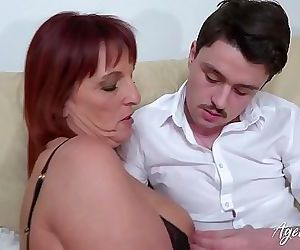 AgedLovE Redhead Mature And Horny Man Hardcore 8 min