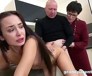 Creepy Old Couple Gives Sex Lessons To Hot Teen 6 min